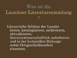 Was ist die Lausitzer Literatursammlung-kl
